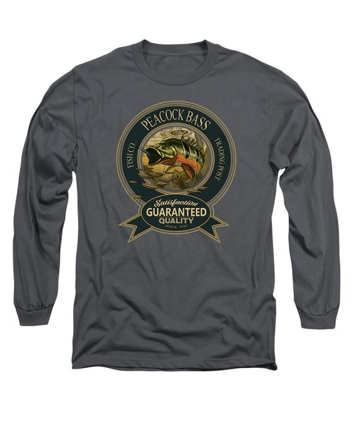 Peacock Bass Logo Long Sleeve T-Shirt