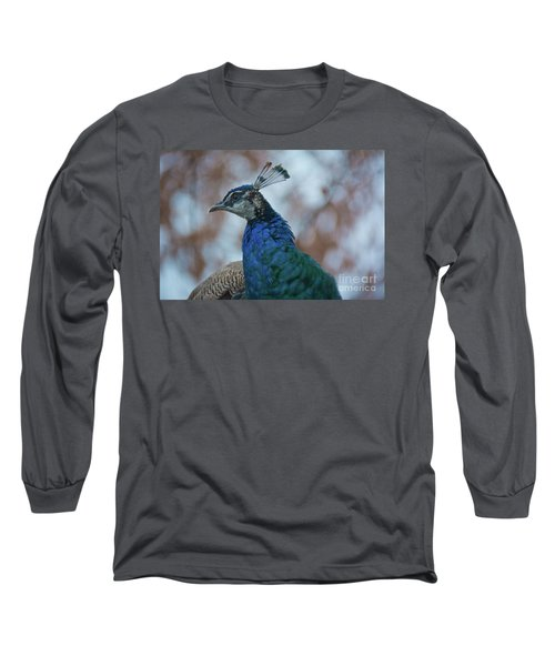 Long Sleeve T-Shirt featuring the photograph Peacock by Lisa L Silva