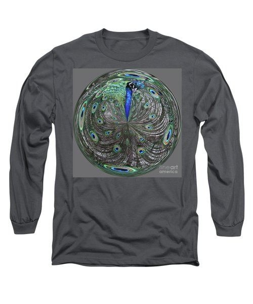 Peacock Swirl #2 Long Sleeve T-Shirt