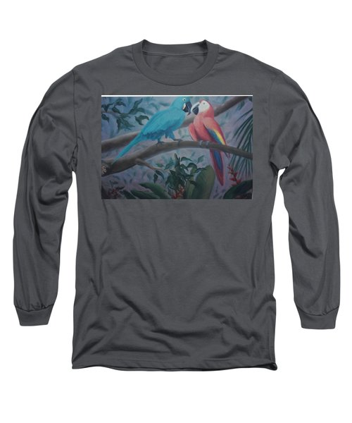 Peacocks In The Jungle Long Sleeve T-Shirt