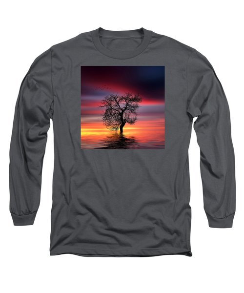 Pear On Lake Long Sleeve T-Shirt by Bess Hamiti