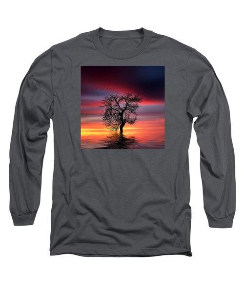 Pear On Lake Long Sleeve T-Shirt