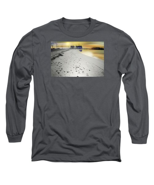 Pear Tree Footsteps Long Sleeve T-Shirt by Diana Angstadt