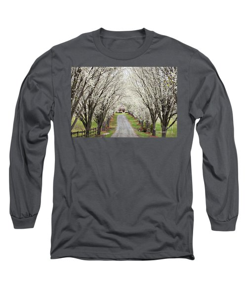 Long Sleeve T-Shirt featuring the photograph Pear Tree Lane by Benanne Stiens