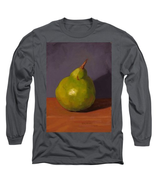 Pear With Gray Long Sleeve T-Shirt