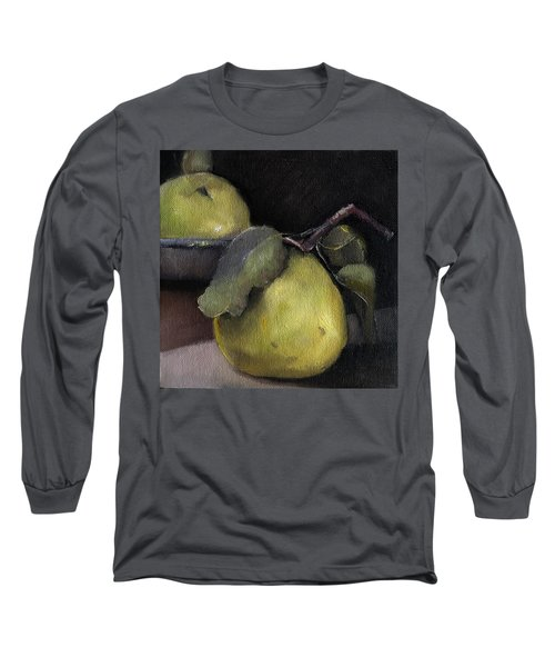 Pears Stilllife Painting Long Sleeve T-Shirt by Michele Carter