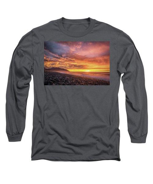 Pebble Beach Sunrise Long Sleeve T-Shirt by Martin Capek