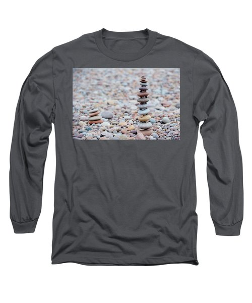 Pebble Stack II Long Sleeve T-Shirt by Helen Northcott