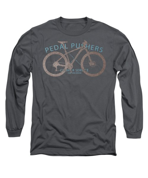Pedal Pushers Courier Service Bike Tee Long Sleeve T-Shirt