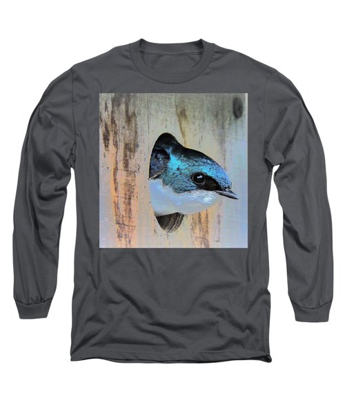 Peek-a-blue Long Sleeve T-Shirt