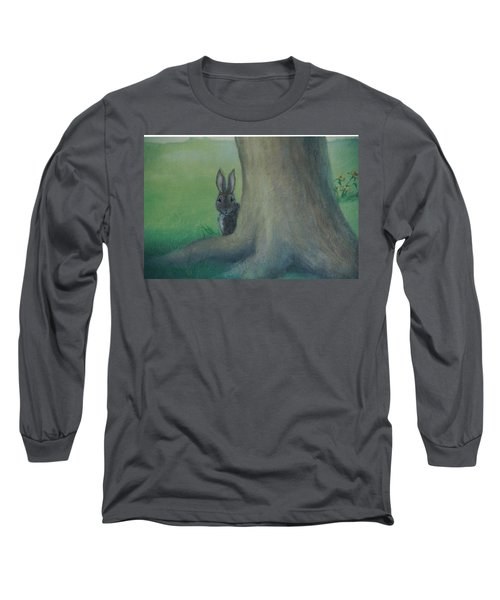 Peek A Boo Behind The Tree Long Sleeve T-Shirt