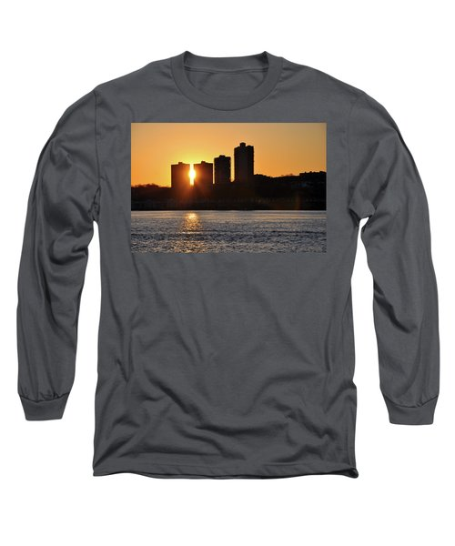 Long Sleeve T-Shirt featuring the photograph Peekaboo Sunset by Sarah McKoy