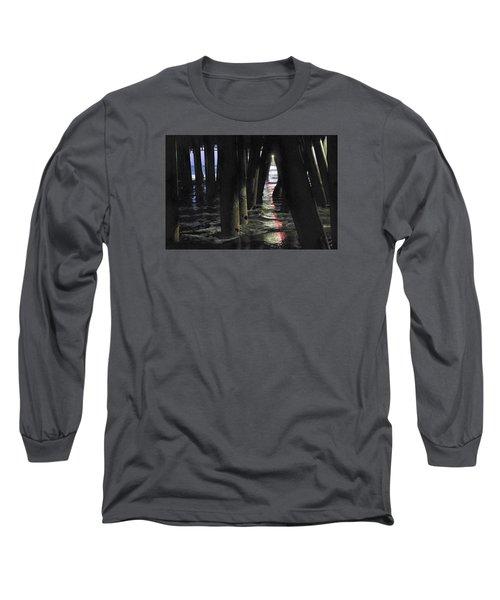 Long Sleeve T-Shirt featuring the photograph Peeking by Lora Lee Chapman