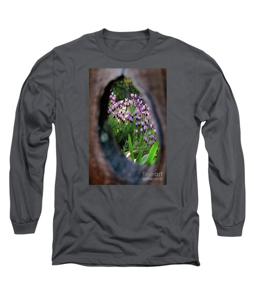 Peephole Garden Long Sleeve T-Shirt by CML Brown