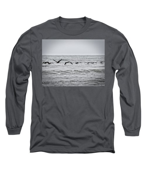 Pelican Black And White Long Sleeve T-Shirt