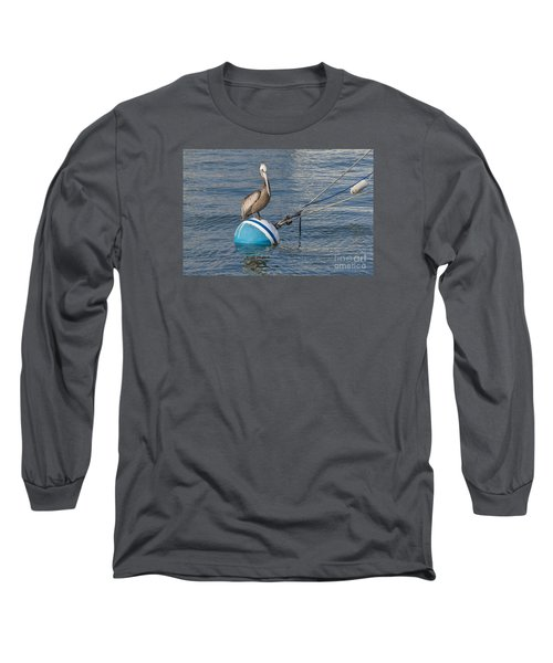Pelican On A Buoy Long Sleeve T-Shirt