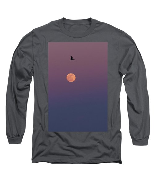 Pelican Over The Moon Long Sleeve T-Shirt