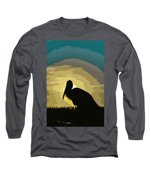 Pelican Paint Long Sleeve T-Shirt by Josy Cue