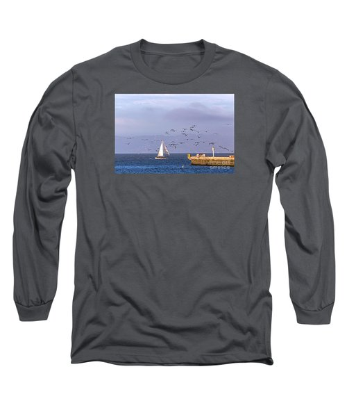 Long Sleeve T-Shirt featuring the photograph Pelicans Pelicans by Kate Brown