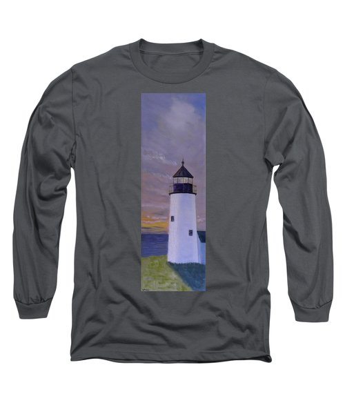 Pemaquid Light Morning Light Long Sleeve T-Shirt
