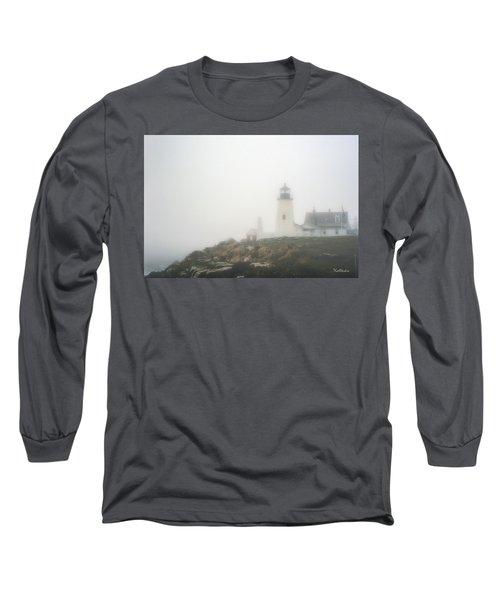 Pemaquid Point Lighthouse In Fog Long Sleeve T-Shirt