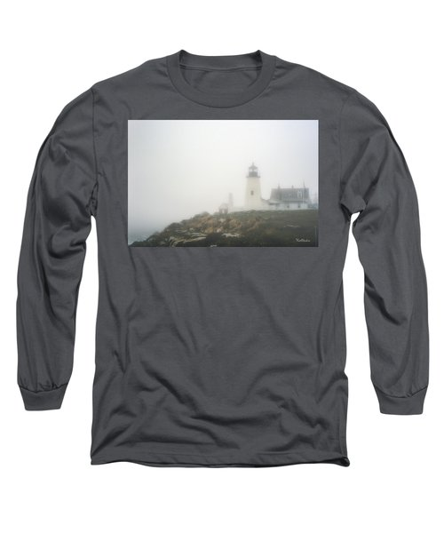 Pemaquid Point Lighthouse In Fog Long Sleeve T-Shirt