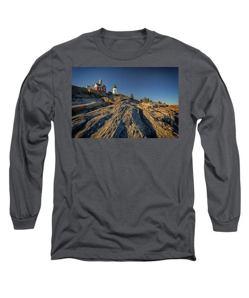 Pemaquid Point Long Sleeve T-Shirt by Rick Berk