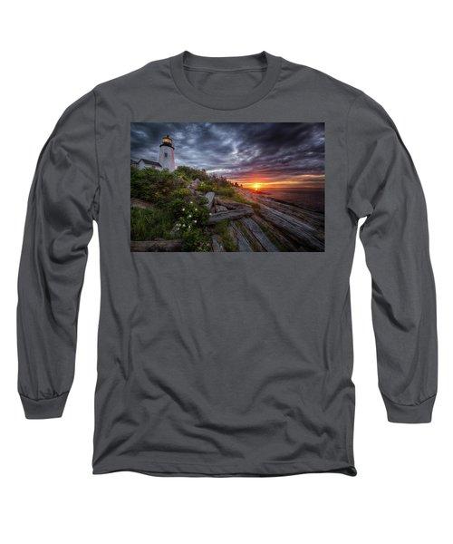 Pemaquid Sunrise Long Sleeve T-Shirt by Neil Shapiro