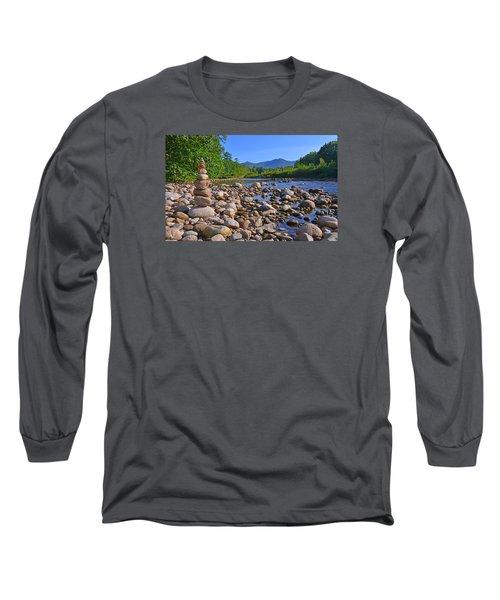 Pemigewasset River, North Woodstock Nh Long Sleeve T-Shirt