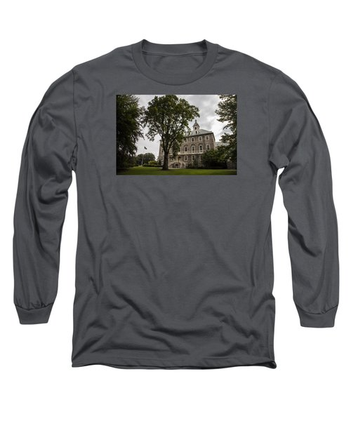 Penn State Old Main And Tree Long Sleeve T-Shirt by John McGraw