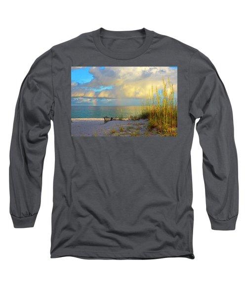Pensacola Rainbow At Sunset Long Sleeve T-Shirt