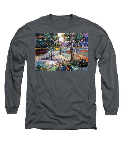 People In Landscape Long Sleeve T-Shirt
