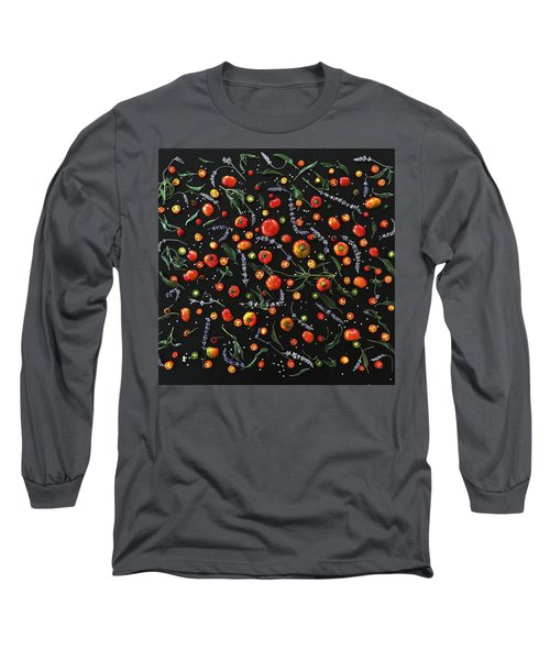 Pepper Pattern Long Sleeve T-Shirt