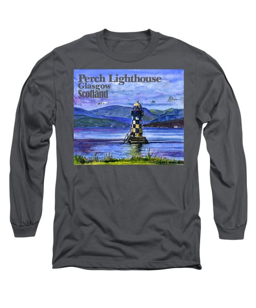 Perch Lighthouse Scotland Long Sleeve T-Shirt