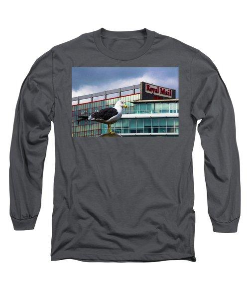 Perched Gull Long Sleeve T-Shirt