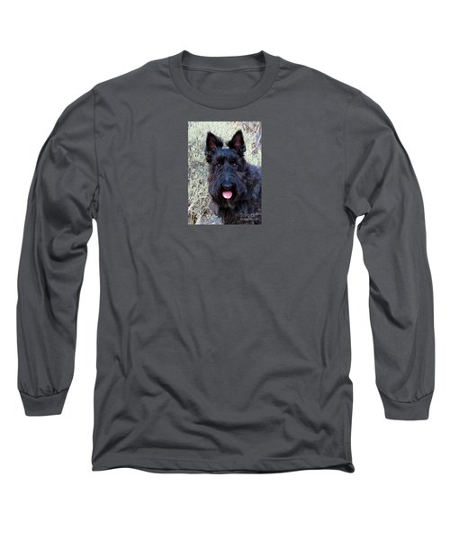 Long Sleeve T-Shirt featuring the photograph Scottish Terrier Portrait by Michele Penner
