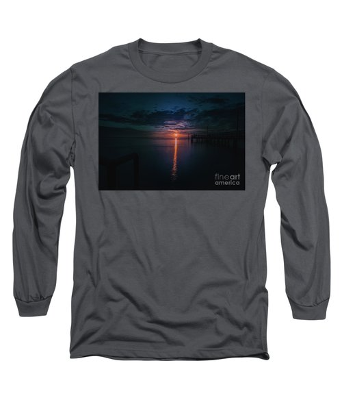 Perfect Sunset Long Sleeve T-Shirt by Jim  Hatch
