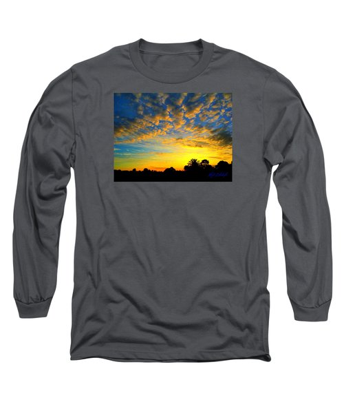 Perfect Sunset Long Sleeve T-Shirt by Mark Blauhoefer