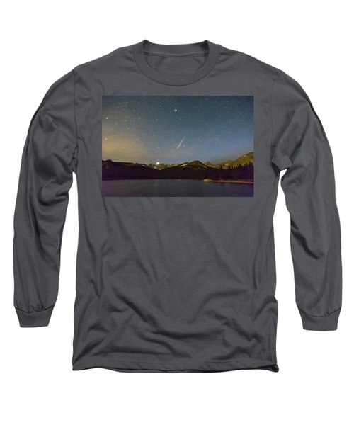 Long Sleeve T-Shirt featuring the photograph Perseid Meteor Shower Indian Peaks by James BO Insogna