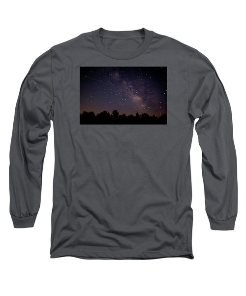 Long Sleeve T-Shirt featuring the photograph Perseid Meteor Shower by Jean Haynes