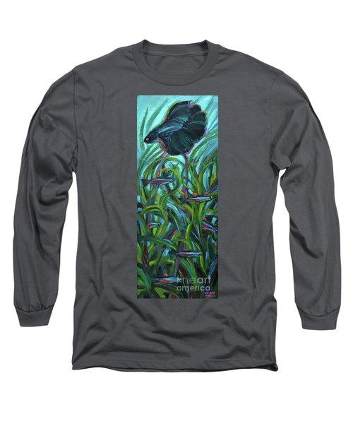 Persistent Fish Betta  Long Sleeve T-Shirt by Robert Phelps