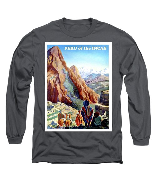 Peru, Mountains, Incas, Landscape Long Sleeve T-Shirt
