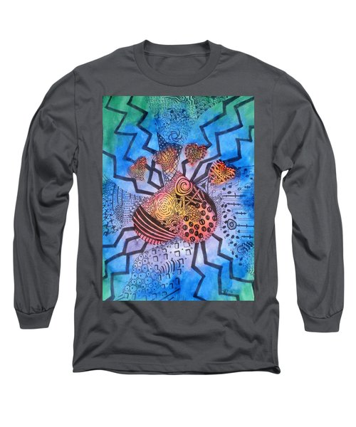 Long Sleeve T-Shirt featuring the painting Pet Love by Thomasina Durkay