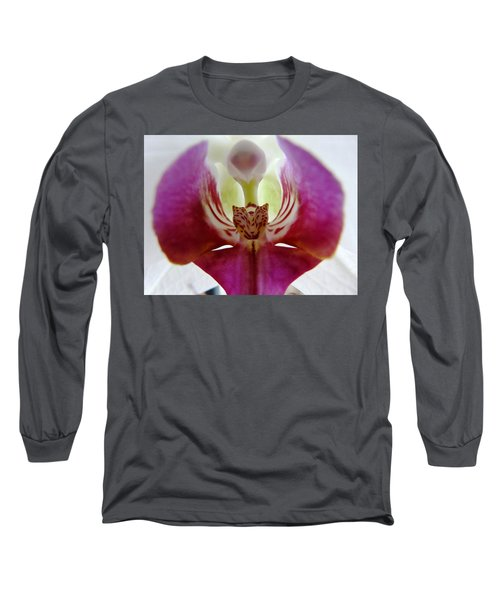 Phalaenopsis Orchid Detail Long Sleeve T-Shirt by Valerie Ornstein
