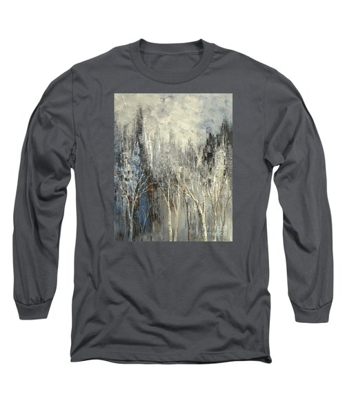 Long Sleeve T-Shirt featuring the painting Phantom Glory by Tatiana Iliina