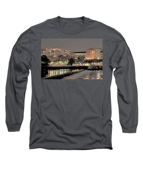Philadelphia Art Museum In Pastel Long Sleeve T-Shirt
