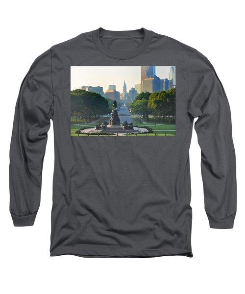 Philadelphia Benjamin Franklin Parkway Long Sleeve T-Shirt