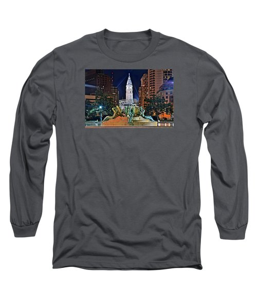 Philadelphia City Hall Long Sleeve T-Shirt