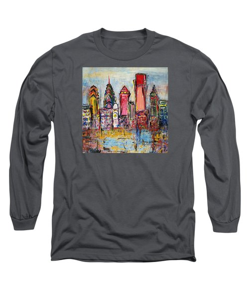 Philadelphia Skyline 232 1 Long Sleeve T-Shirt by Mawra Tahreem
