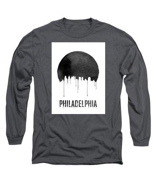 Philadelphia Skyline White Long Sleeve T-Shirt